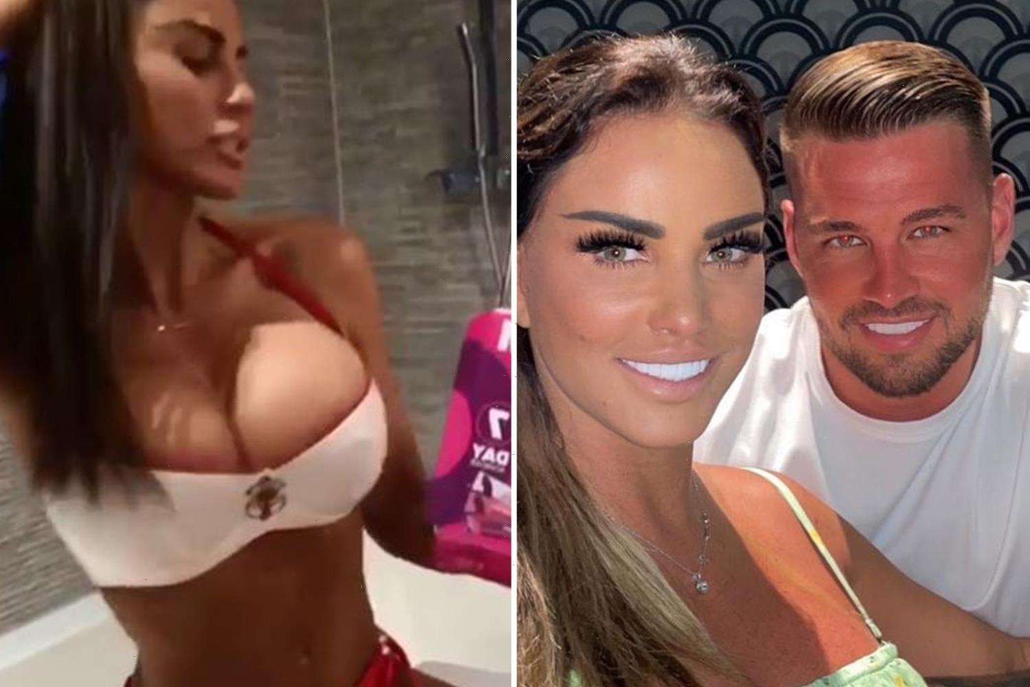 Katie Price's fiancé Carl Woods 'bans her from going topless and tells her to dress her age' on holiday