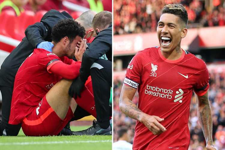 Liverpool 3 Osasuna 1: Firmino scores twice as Reds win friendly but Curtis Jones hobbles off injured