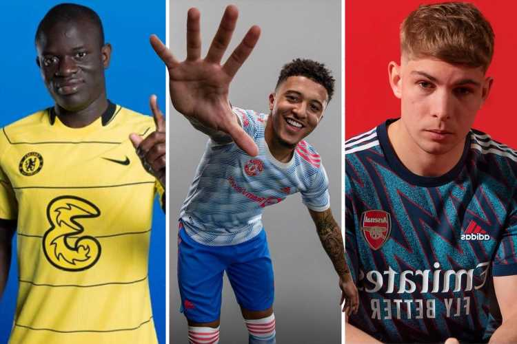 Man Utd, Arsenal, Chelsea, Tottenham, Barcelona, Real Madrid, Juventus and PSG kits CONFIRMED for 2021-22 season