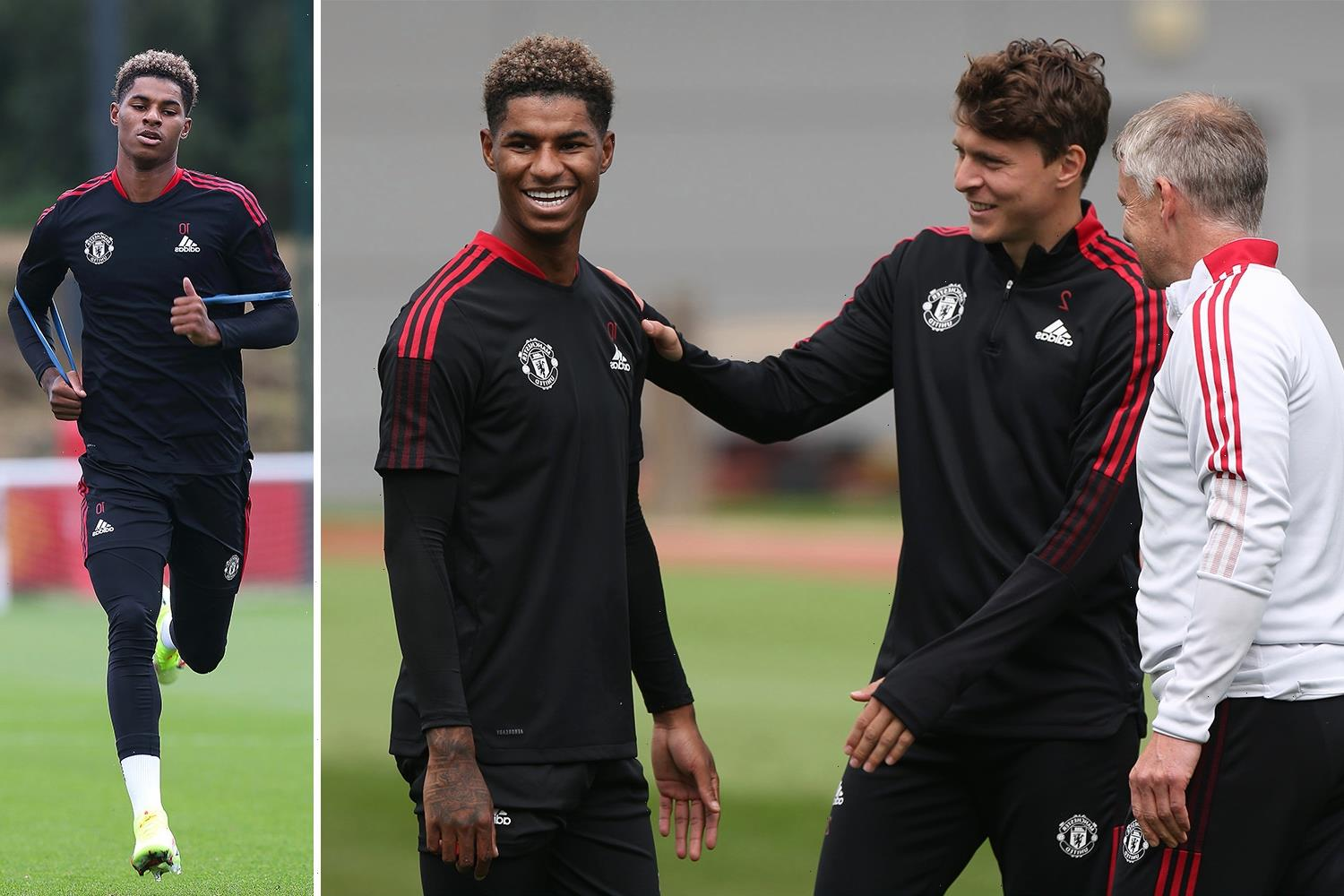 Marcus Rashford returns to Man Utd training for first time since shoulder operation as striker makes early recovery