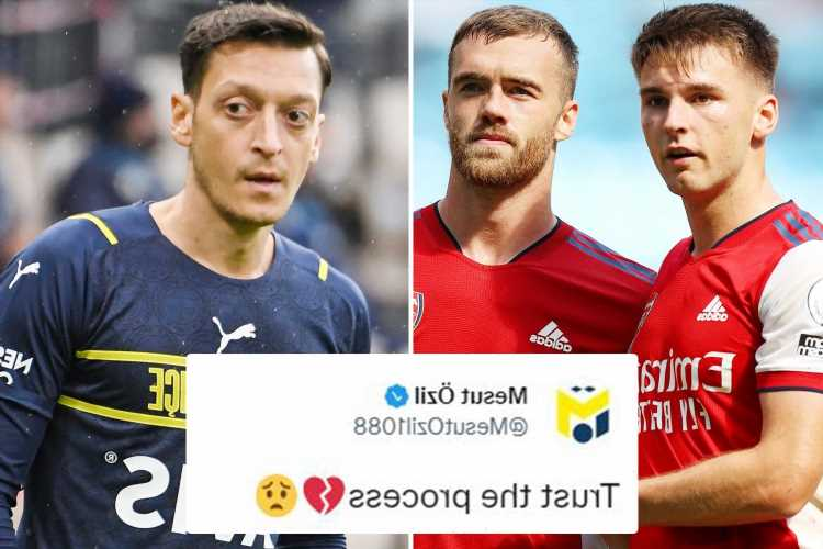 Mesut Ozil aims dig at Arsenal with cryptic 'trust the process' tweet after Gunners sink to new low in Man City mauling