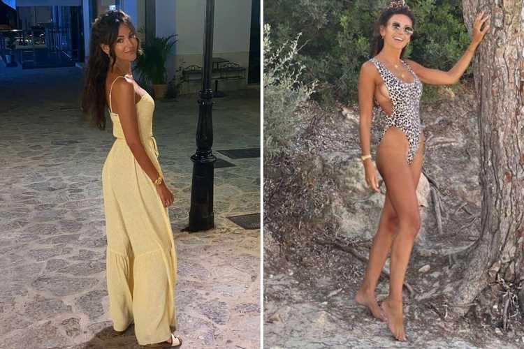 Michelle Keegan reveals tan lines and flashes her hips as she shows off incredible figure in throwback snaps