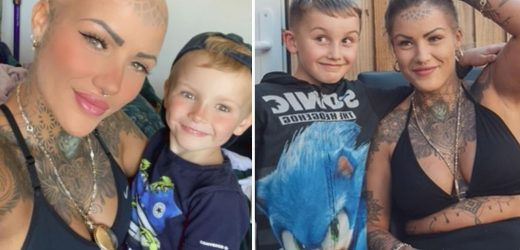 Mum, 29, receives shock breast cancer diagnosis after getting a boob job but vows to fight disease for her three kids