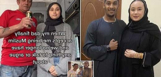 Muslim daughter, 19, and her father, 52, poke fun at relationship