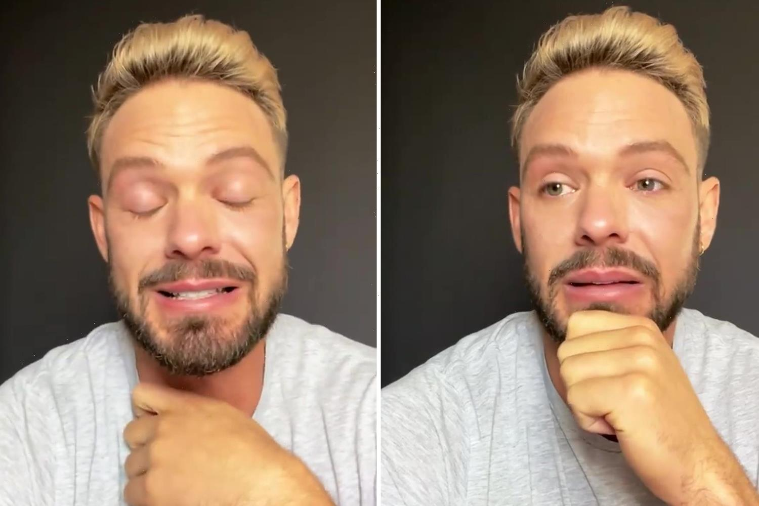 New Strictly contestant John Whaite breaks down in tears after announcing he'll dance in show's first male partnership