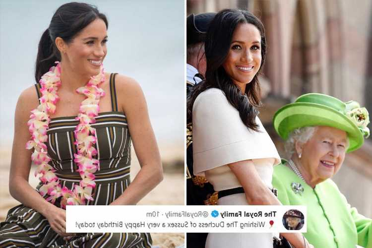 Queen, Kate Middleton and William wish Meghan Markle a happy 40th birthday with sweet pictures of duchess