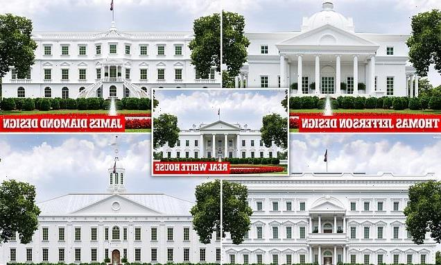 Rejected designs show what the White House almost looked like