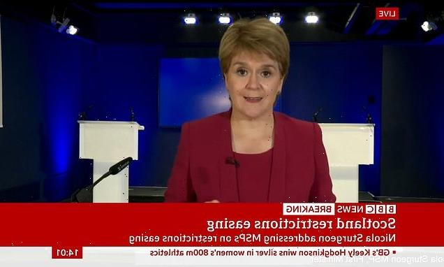 Sturgeon says Scotland WILL exit lockdown on Monday but keep mask law