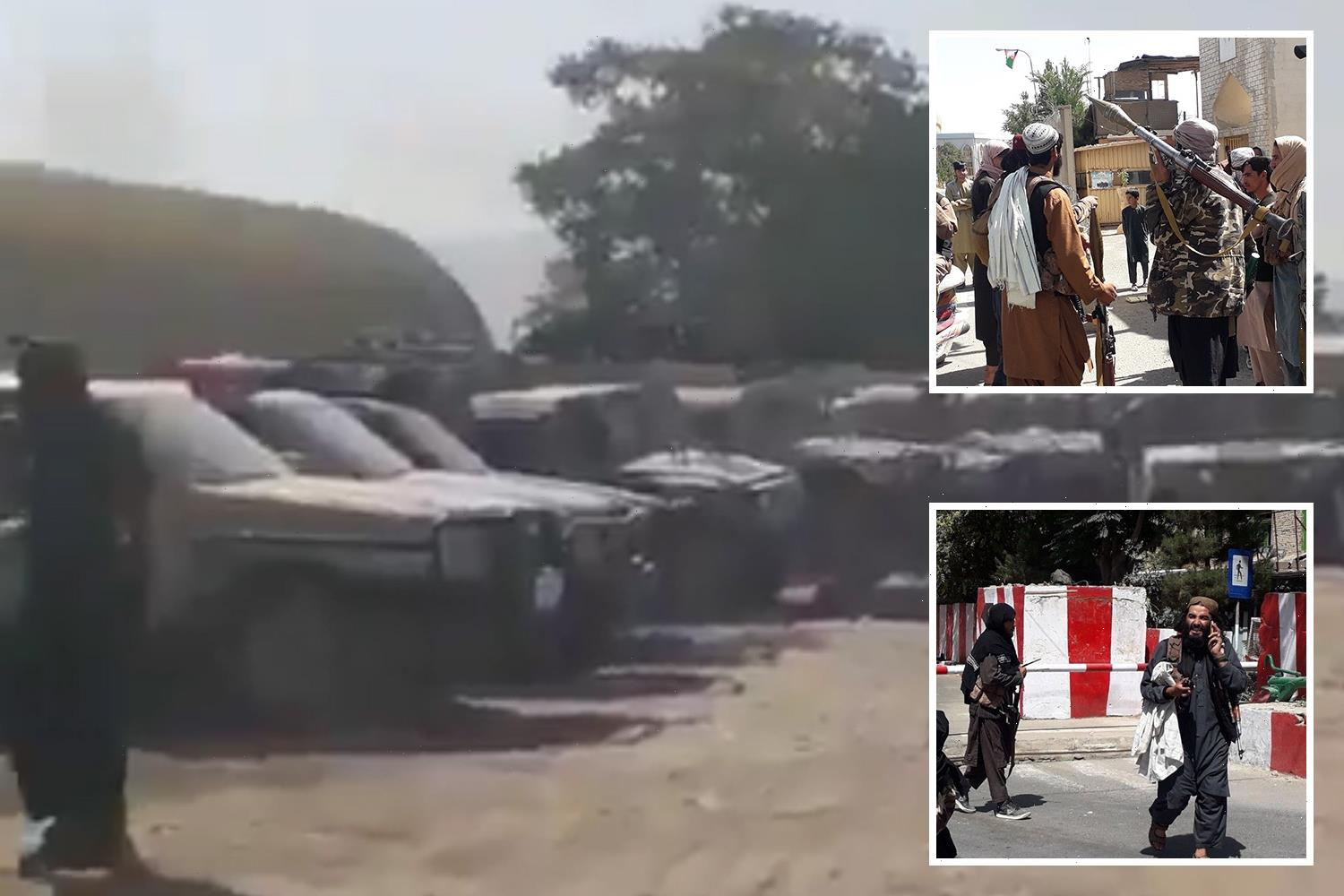Taliban seizes 'motherload' of US weapons and drones as jihadis tear towards Kabul after ripping through 10 cities