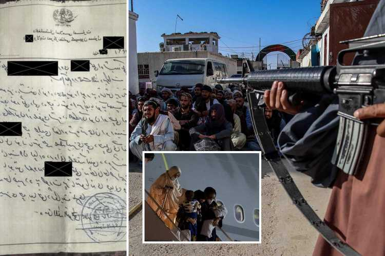 Taliban tells Brit 'you'd be dead if world wasn't watching' as jihadis issue 'death squad letters' to Afghan 'traitors'