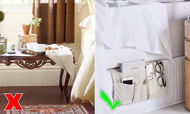 This stylish bedroom gadget reduces clutter on your bedside table