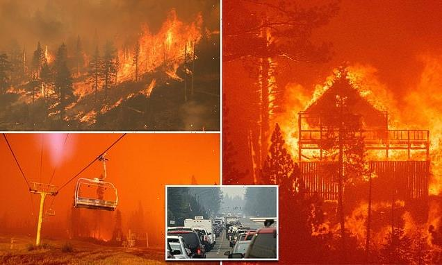 Thousands flee as Caldor Fire engulfs South Lake Tahoe