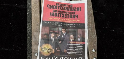 Trevor Noah, 'Daily Show' Run Fake Lawyer Ad for 'Insurrectionists'