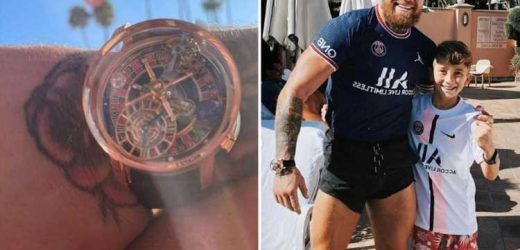 UFC star Conor McGregor shows off amazing Jacob & Co Astronomia Casino 'roulette' watch valued at eye-watering £450,000