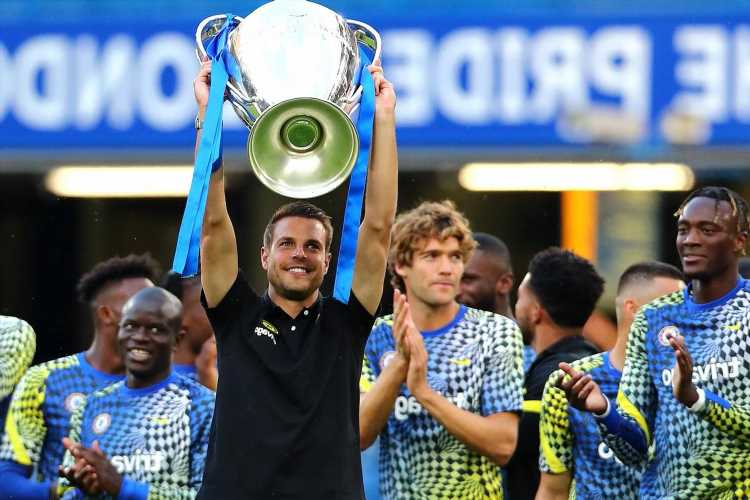 Watch jubilant Chelsea stars parade Champions League trophy around Stamford Bridge in front of rivals Tottenham