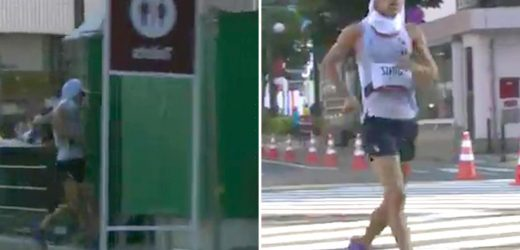 Watch moment walker goes for mid-race LOO BREAK during Tokyo Olympic Games leaving fans in hysterics