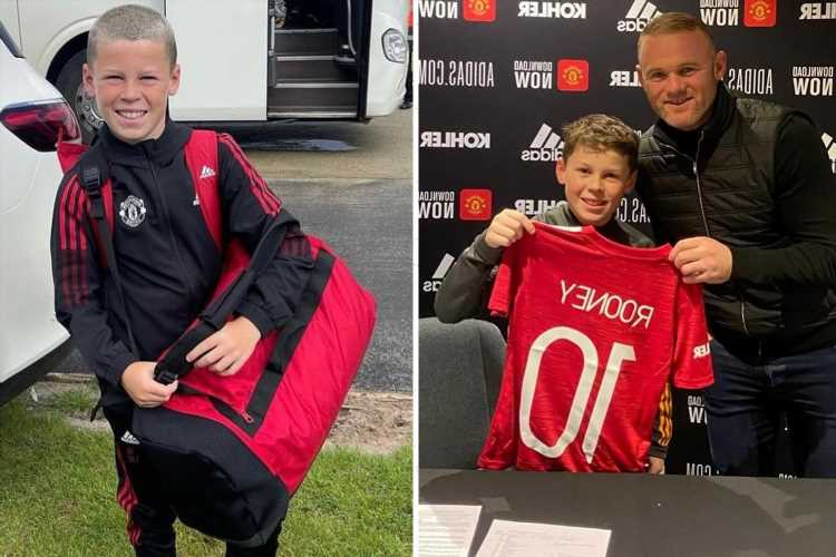 Wayne Rooney's son Kai, 11, heads off on first Man Utd away trip as proud dad wishes him luck in Instagram post