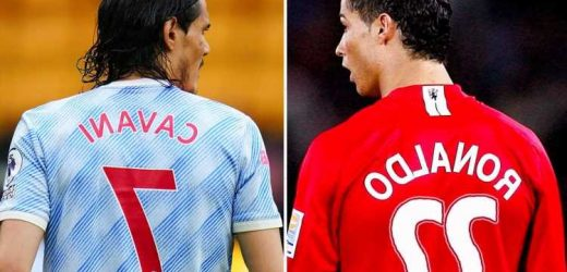 What number Cristiano Ronaldo could wear at Man Utd with No7 belonging to Cavani and two former options taken