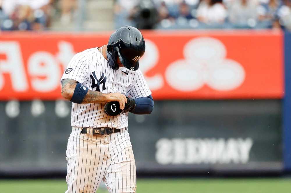 Yankees' Gleyber Torres to get MRI on injured thumb: 'Little concerned'