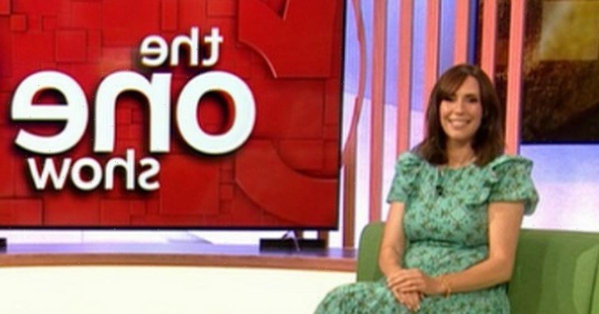 Alex Jones returns to The One Show after giving birth and brings baby with her