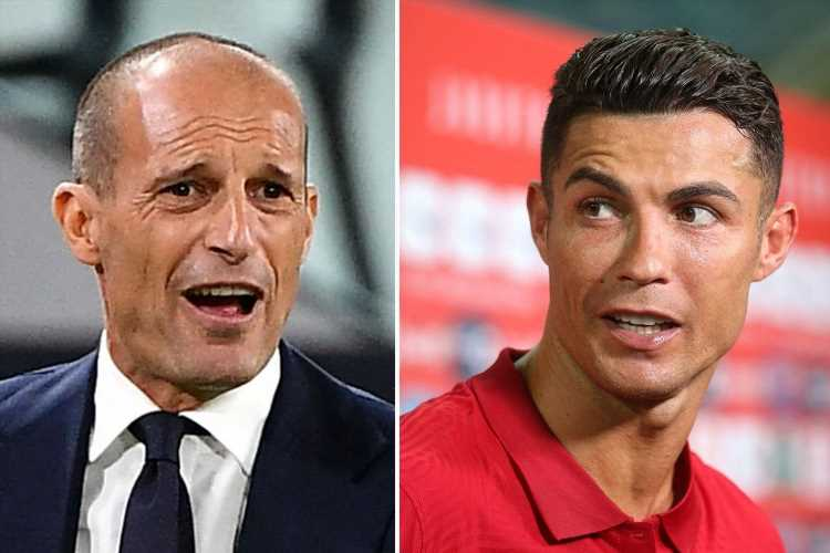 Allegri 'furious' with Juventus for Cristiano Ronaldo's Man Utd transfer as he 'was not told about deal before return'