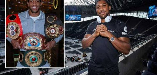 Anthony Joshua insists he's not in boxing for the fame with 68,000 fans set to pack Spurs stadium as big crowds return