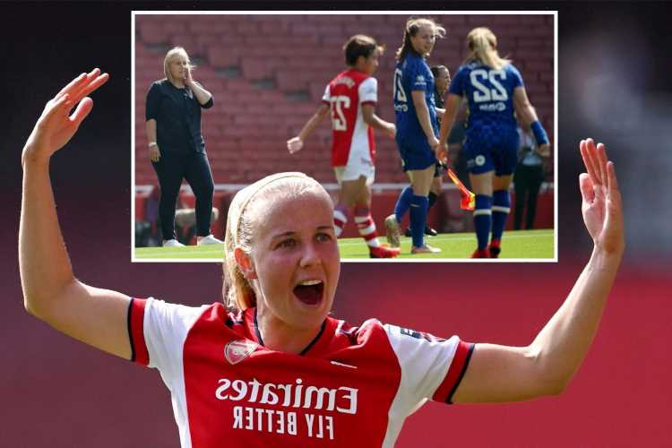 Arsenal 3 Chelsea 2 – Mead nets twice as Gunners stun champions Chelsea in five-goal thriller at the Emirates