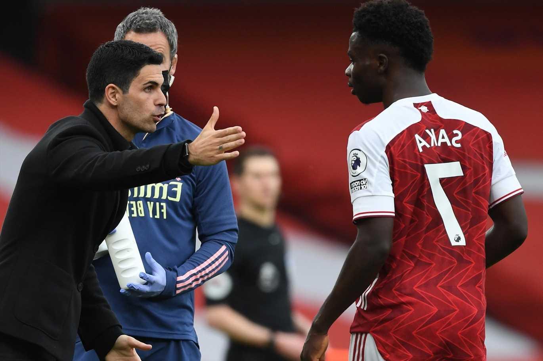 Arsenal boss Mikel Arteta says Bukayo Saka is 'struggling' after emotional and physical toll of Euro 2020