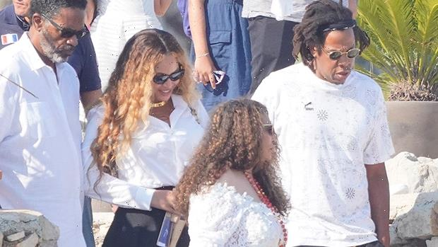 Beyonce Slays In Black Mini Skirt With Jay Z & Mom in Cannes After 40th Birthday — Photo