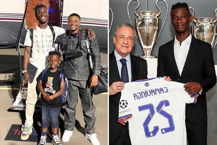 Camavinga says fleeing war 'made me strong' but credits family for meteoric rise as he is unveiled as Real Madrid player