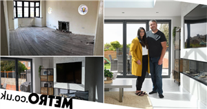 Couple renovate 'derelict' 1930s house after winning £1million on scratchcard