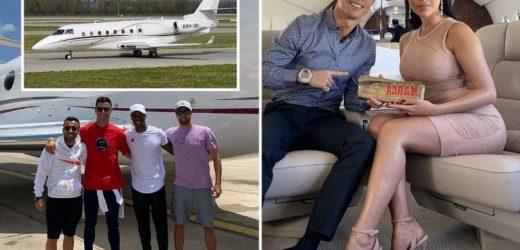 Cristiano Ronaldo's huge £20million Gulfstream G20 jet flies at 560mph and transports girlfriend Georgina Rodriguez – The Sun