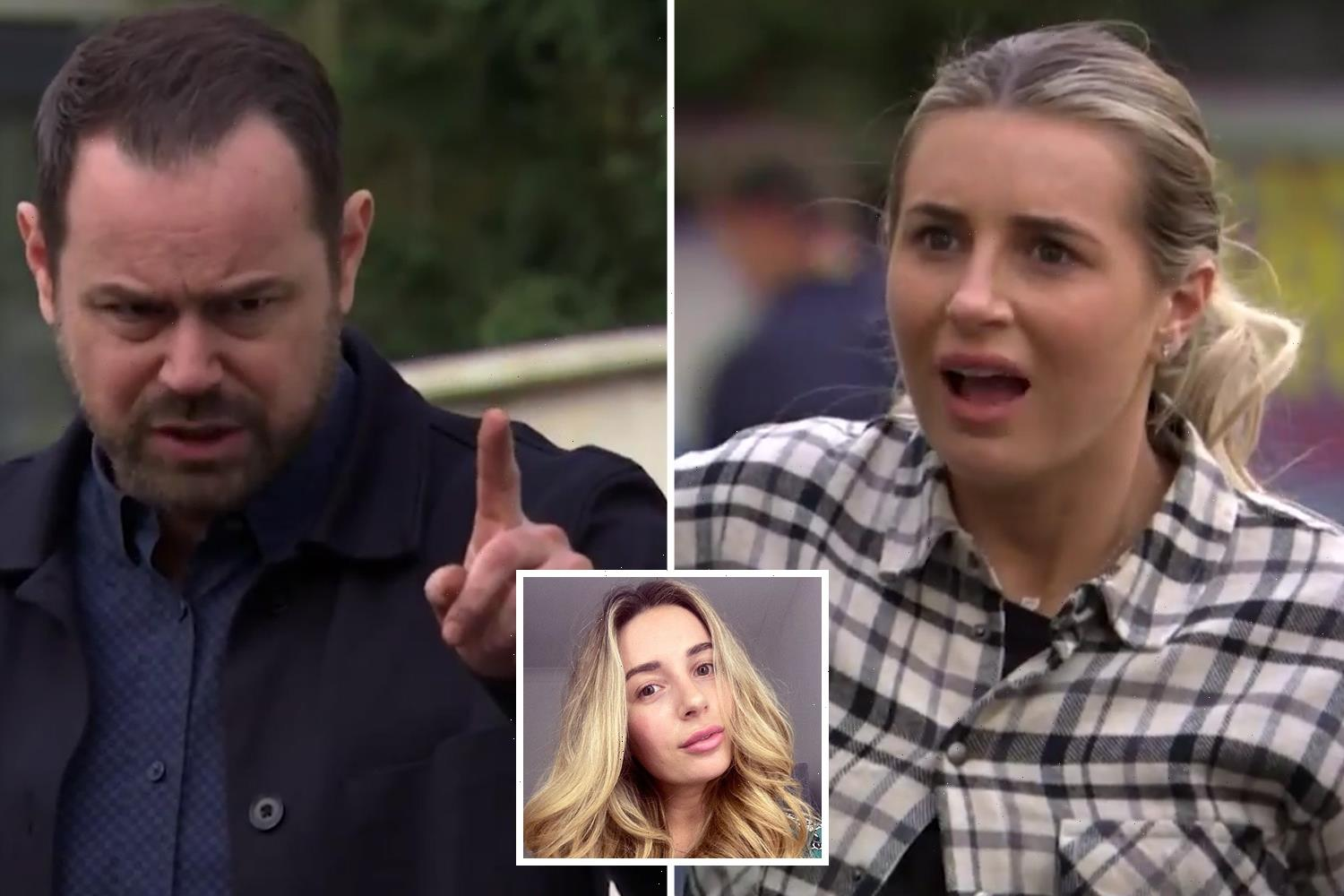 Dani Dyer says appearing on EastEnders with her dad Danny made her 'so ill'