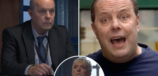 EastEnders fans go wild as they spot The Inbetweeners star playing cop quizzing Jean