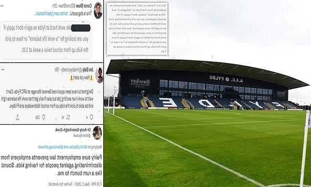 Football club faces online uproar after 'discriminatory' job advert