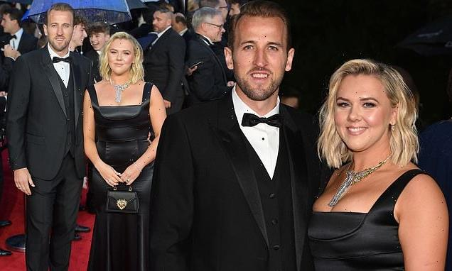 Harry Kane and wife Katie Goodland attend No Time To Die premiere