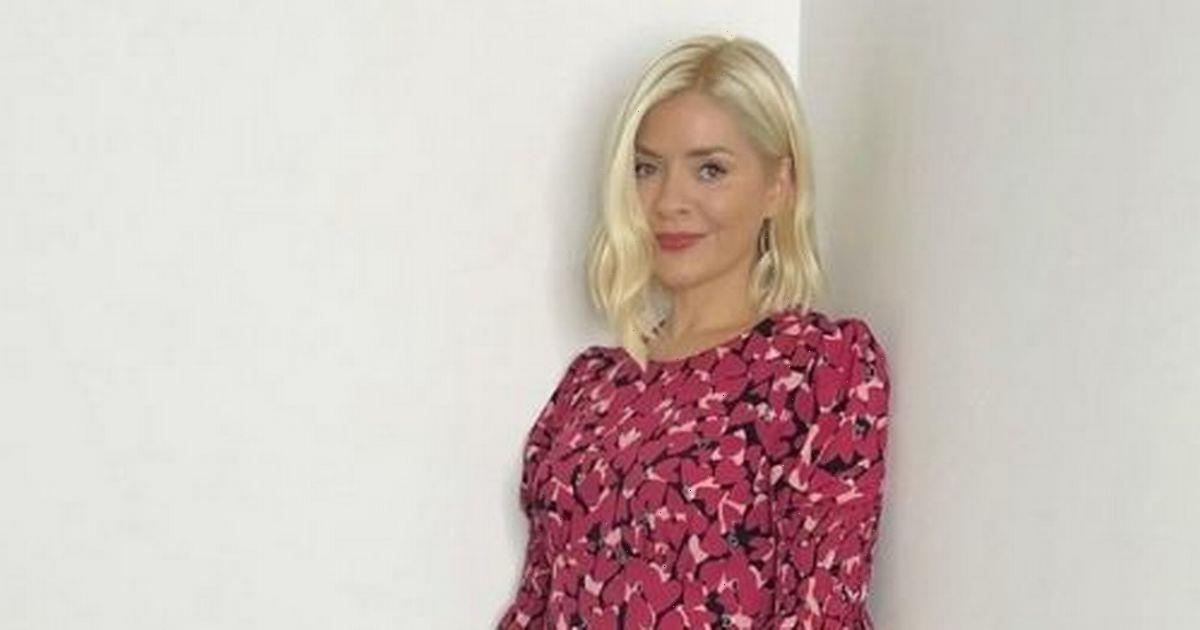 Holly Willoughby captures our hearts with pretty pink printed dress on This Morning