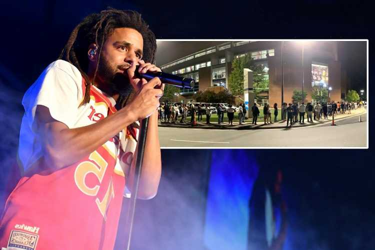 J. Cole slammed after furious fans wait THREE hours for concert to begin because rapper & crew 'arrived late' to venue