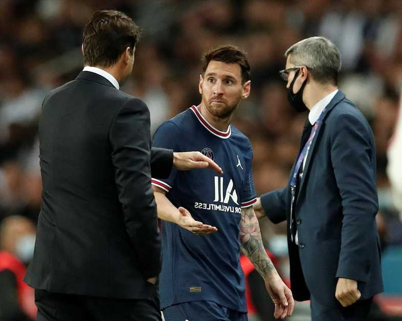 Lionel Messi a doubt to face Man City after PSG star suffers knee injury and is ruled out of Metz clash