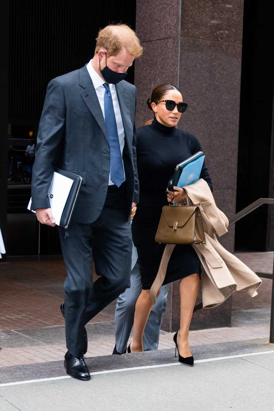 Meghan Markle smiles at new nickname 'Madam Duchess' before donning sunglasses for glam New York trip with Prince Harry