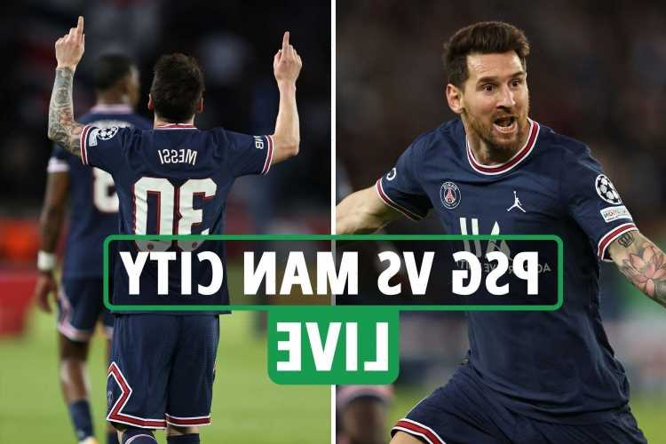 PSG vs Man City LIVE REACTION: Lionel Messi SCORES sensational first goal for PSG in blockbuster clash – latest updates
