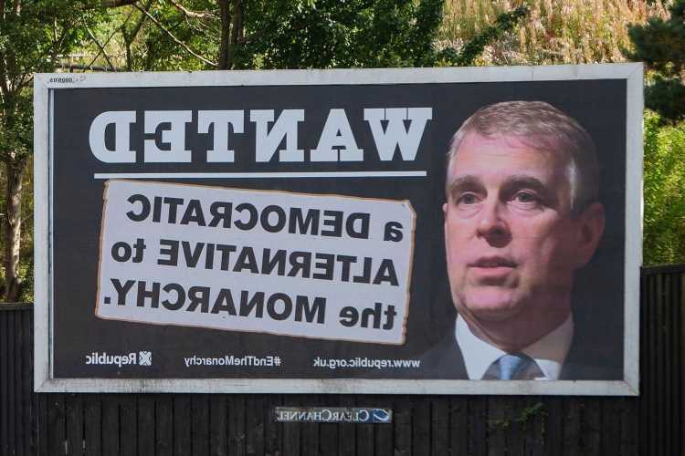 Prince Andrew 'WANTED' billboards appear across Britain as Duke dodges lawyers over Virginia Roberts rape lawsuit