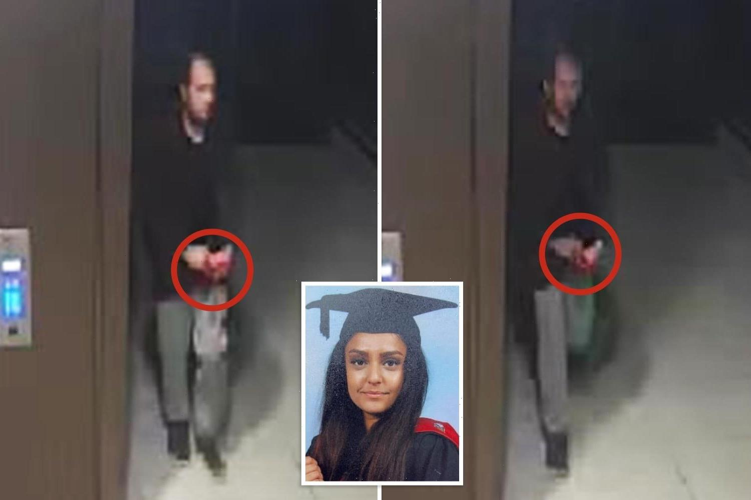 Sabina Nessa murder: Cops hunt man 'trying to hide red item up his sleeve' that could be weapon used to attack teacher