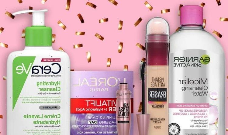 Save up to 60% on CeraVe, Maybelline, Garnier, L'Oreal and more
