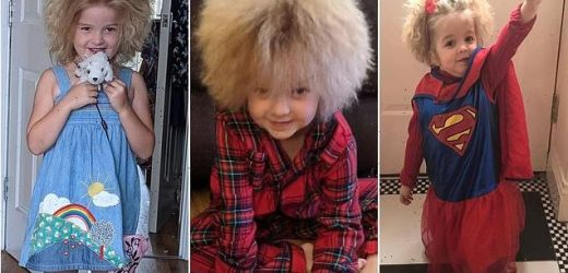 Schoolgirl has to bat off strangers who want to touch her frizzy locks