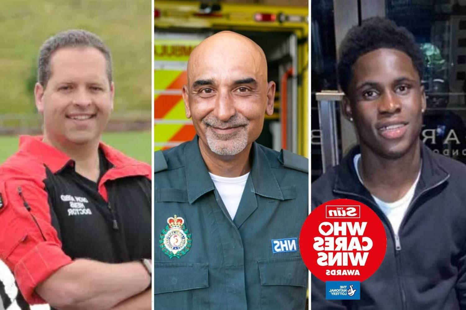 The heroes who ran towards danger to save the lives of strangers up for Who Cares Wins award