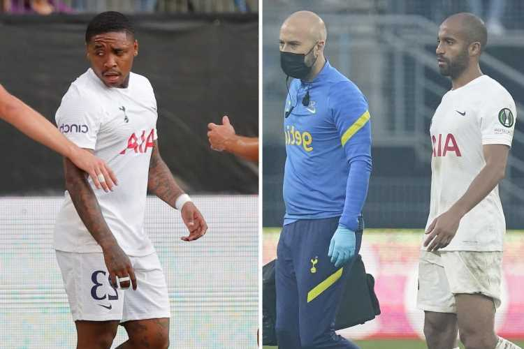 Tottenham in crisis with Lucas Moura and Steven Bergwijn suffering 'painful' injuries to join Son on casualty list