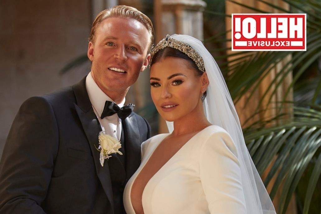 Towie's Jess Wright finally reveals quirky wedding dress with plunging neckline and tiered ruffles