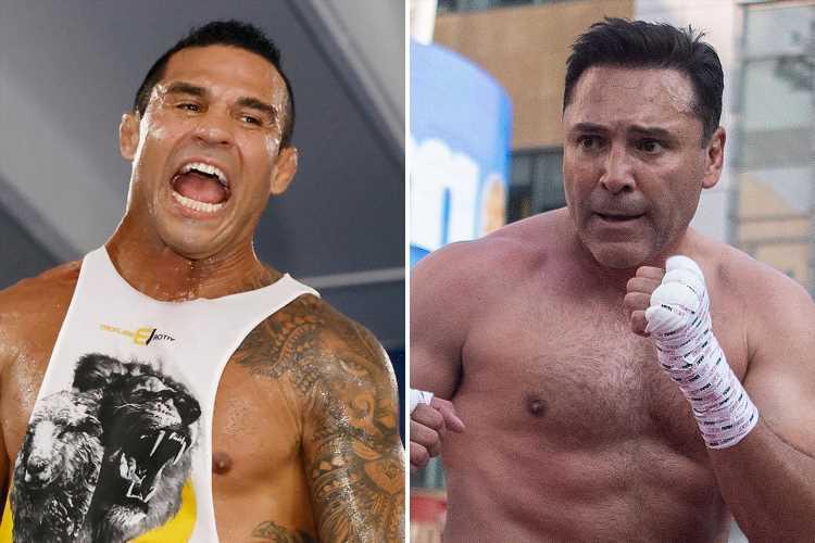 Vitor Belfort's coach 'sceptical' of Oscar De La Hoya's Covid-19 diagnosis after Golden Boy pulls out of Triller fight