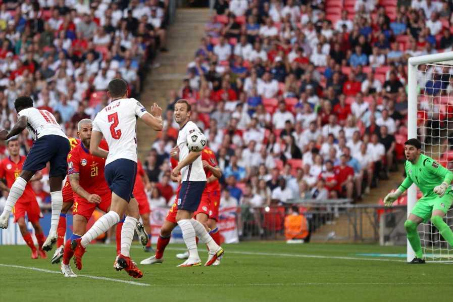 Watch Bukayo Saka score for England against Andorra as Wembley go wild after Euro 2020 heartbreak